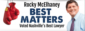 Thank You, Nashville, for Naming Rocky McElhaney as the Best of Nashville in 2016!